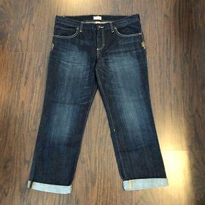 Gap Womens Jeans Capri Dark Straight Leg Size 14